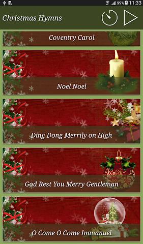 android Christmas Hymns Holiday Themes Screenshot 11