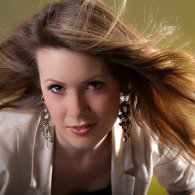 by  pemavis Photography - People Portraits of Women ( girl, backlight, windy, blond, hair, women, portrait )