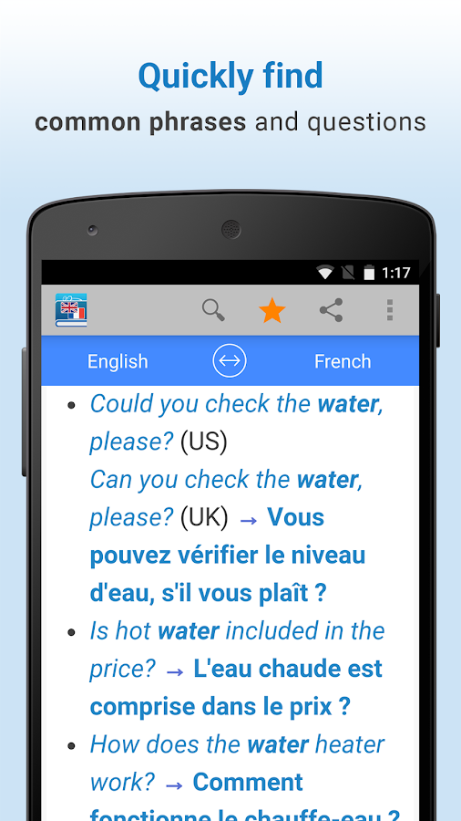 English-French Translation- screenshot