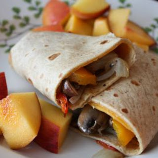 Roasted Mushroom and Pepper Wrap