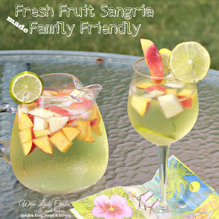 Fresh Fruit White Sangria Made Family Friendly Recipe