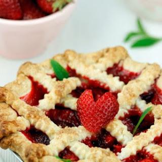 """I Heart Summer"" Strawberry Lemon Verbena Pie"