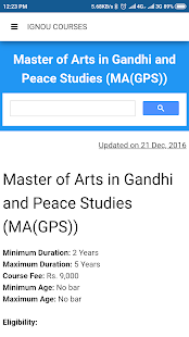 Ignou Course Finder for PC-Windows 7,8,10 and Mac apk screenshot 6