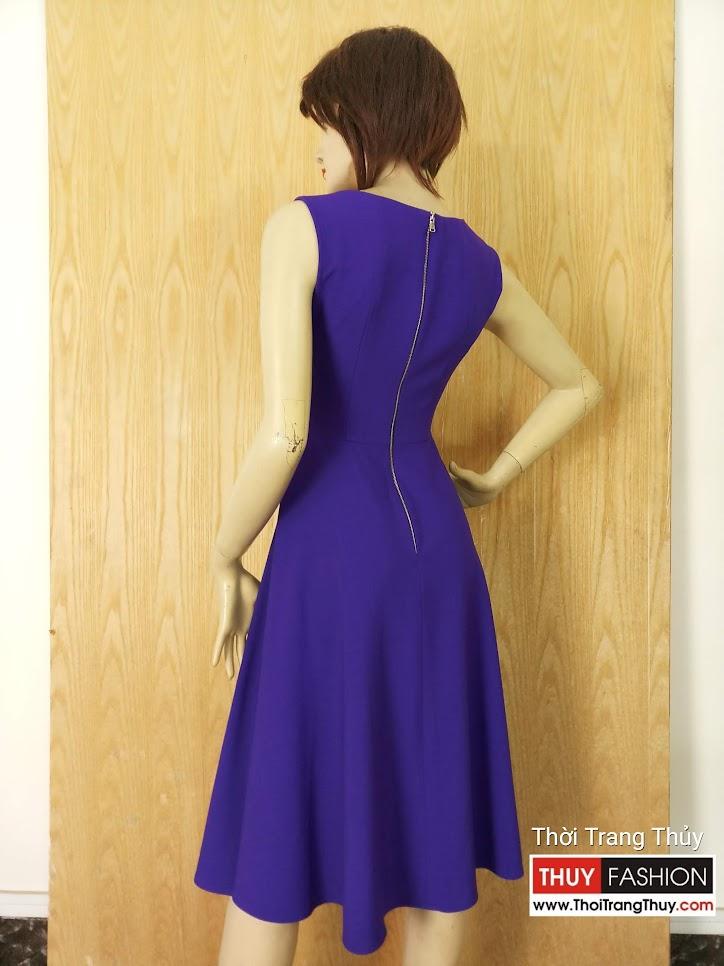 Váy xòe midi sát nách mặc dạo phố V628 Thời Trang Thủy tại Hải Phòng