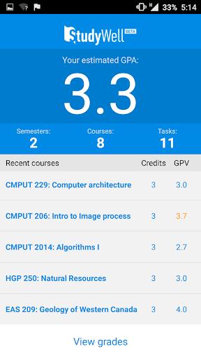 StudyWell - GPA Calculator