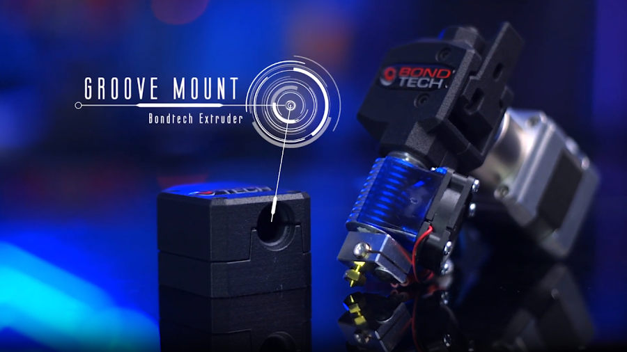 With its groove mount design, you can adapt Bondtech extruders to fit onto almost any printer.