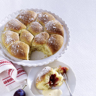 Plum Filled Sweet Rolls With Zabaglione