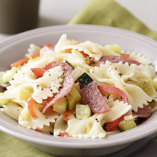 Farfalle with Pepperoni, Leek and Preserved Lemon