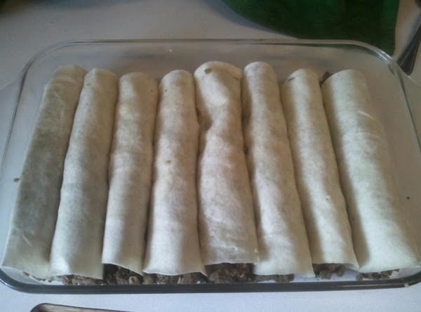 Cover finished tortillas with cheese and bake in 350* oven 10-15 minutes until cheeses...