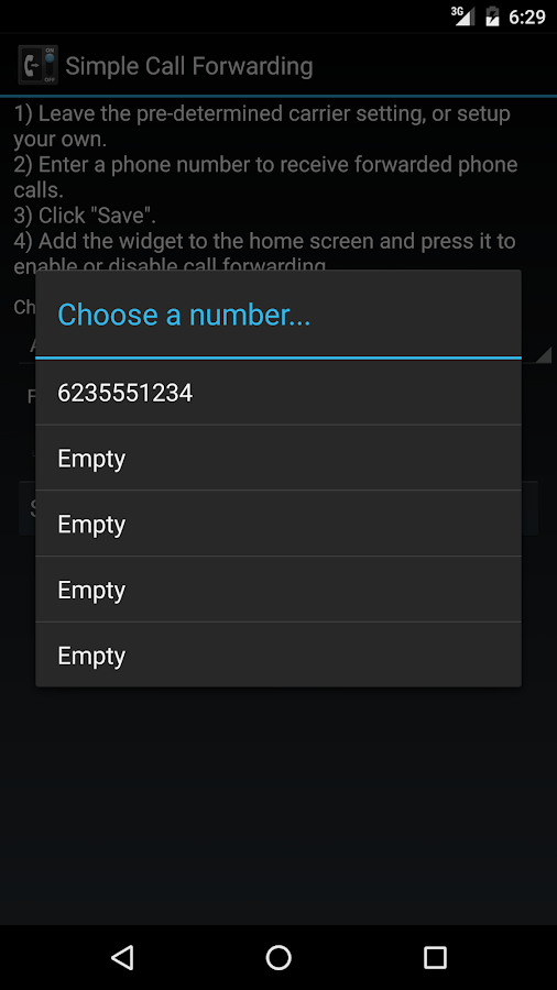 Simple Call Forwarding- screenshot