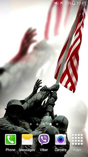 米国のビデオライブ壁紙のフラグ