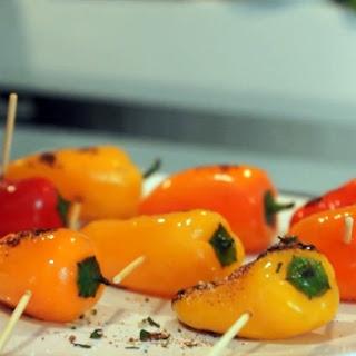 Grilled Pepper with Vegan Chili Mint Salt Shake