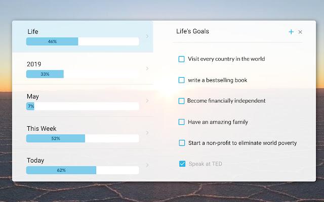 Alto: Life Progress Bar with Goals and Tasks