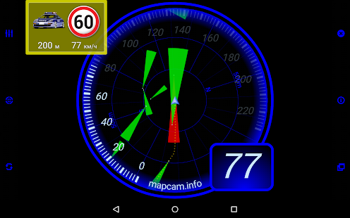 MapcamDroid Speedcam- screenshot thumbnail