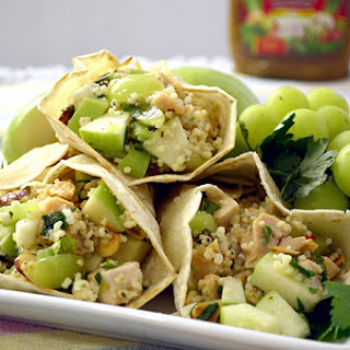 Apple Almond Chicken Salad Wraps