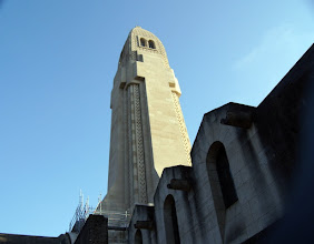 Photo: Beneath the main tower of The Douaumont ossuary