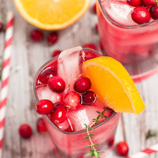 Cranberry-Orange Gin Fizz with Thyme.