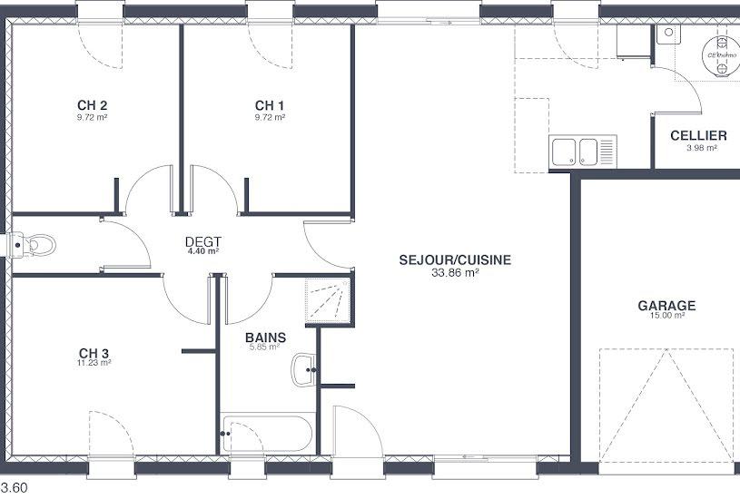 Vente Terrain + Maison - Terrain : 600m² - Maison : 80m² à La Fermeté (58160)