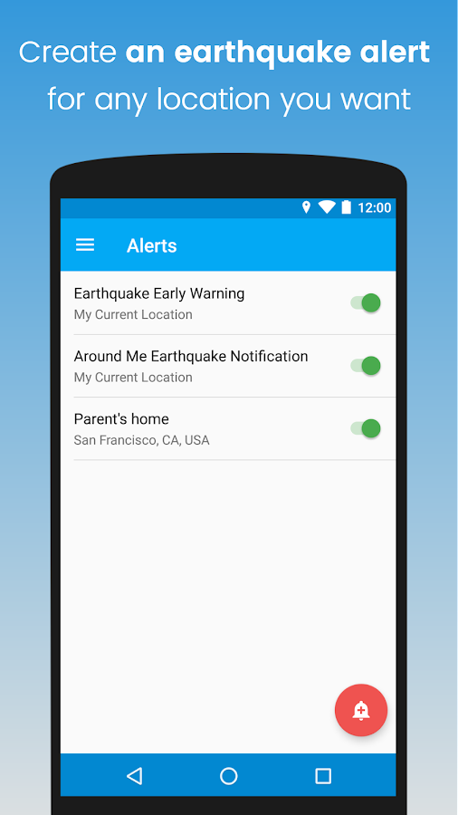 eQuake - Earthquake Alerts- screenshot
