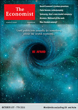 Photo: The Economist cover: Worldwide ex UK & Asia edition. October 1st-7th 2011