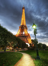 Photo: Eiffel Tower, Paris, France (Paris HDR)  I think this was my fifth trip to Paris, and the first time I actually got some Eiffel Tower shots that I find satisfactory!  I literally had to take thousands of shots of this thing before I found something that feels right to me.  The gardens that surround the Eiffel Tower are surprisingly empty.  Around dusk and sunset, it's usually not too hard to find a nice bench to drink in the sights.  Or, barring that, there are plenty of spots in the grass where you can lay out a blanket and enjoy some amazing cheese and pastries...  and what is more wonderful than that?  from the blog www.stuckincustoms.com
