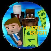 Pixel Rush & Cash - Tap Zigzag