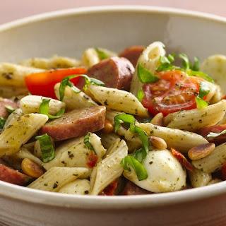 Caprese Sausage Pasta Salad.