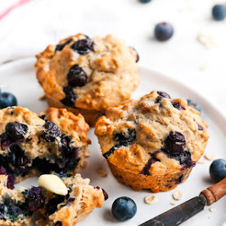 Blueberry Lemon Oat Muffins