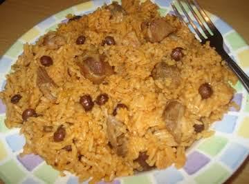 Puerto Rican Pigeon Pea Rice & Pork/Arroz con Gandules y Puerco