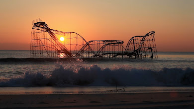 Photo: The Star Jet roller coast submerged in the Atlantic Ocean near the ruined Casino Pier in Seaside Heights more than one month after Hurricane Sandy destroyed areas of the Jersey Shore. Owners of Casino Pier are in talks to remove what remains of the destroyed attraction. ANDRE MALOK/THE STAR-LEDGER