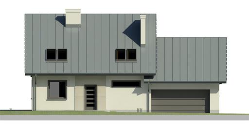 Dom przy Cyprysowej 24 - Elewacja przednia