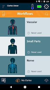 Clarius Ultrasound App - náhled