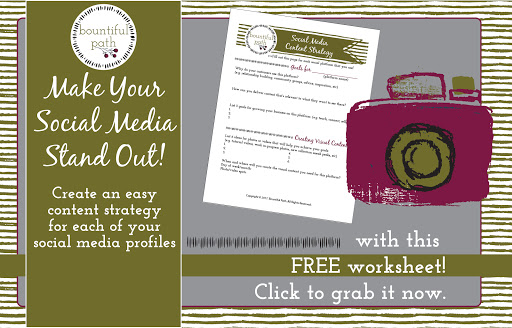 Make your social media pages stand out with content that speaks directly to your ideal customers. Grab this free worksheet to create your visual content strategy for social media now from Bountiful Path.