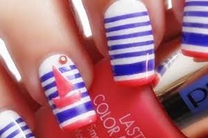 nail art soffiodidea navy chic pupamilano