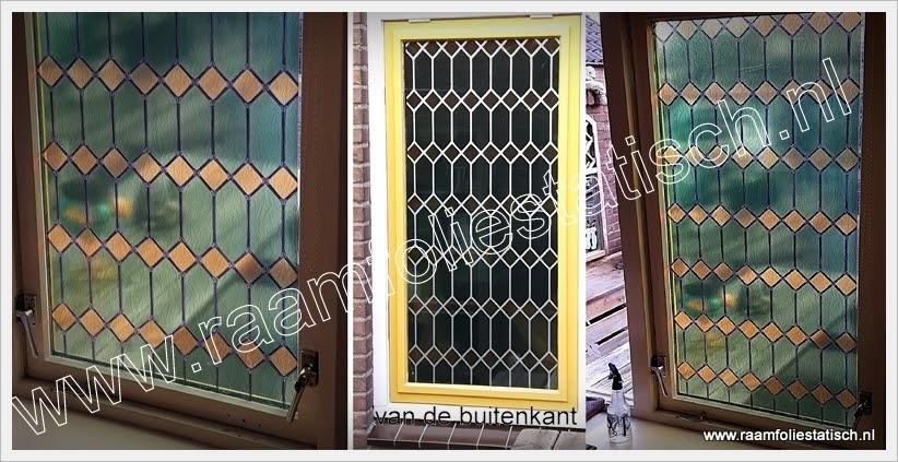 raamfolie glas in lood groen 67,5cm kopen