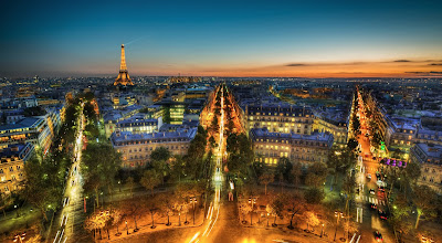 Photo: Paris from the Arc de Triomphe