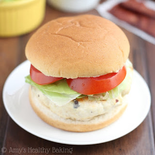 Skinny BBQ Bacon Chicken Burgers