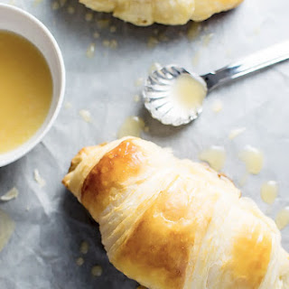 Homemade Croissants with Honey Butter Drizzle