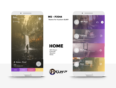 MS - PJ044 Theme for KLWP - náhled