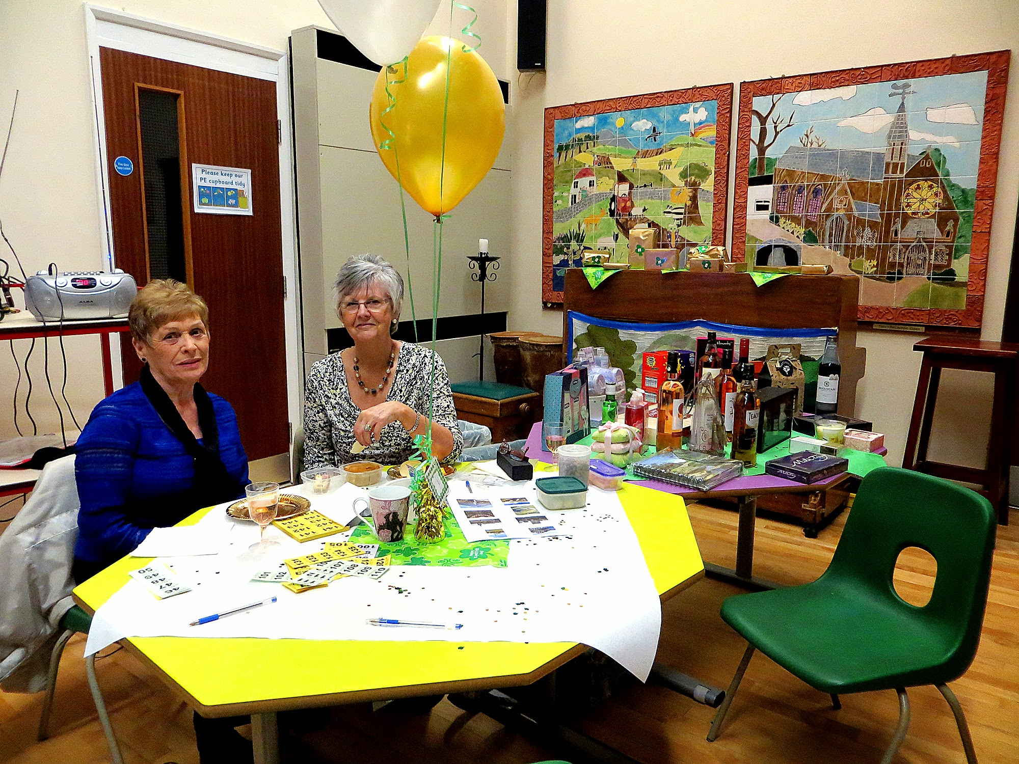 Photo: Anne & Carol looking after the raffle