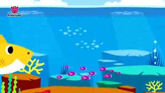 animasi lucu baby shark - náhled