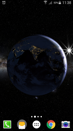 Earth Planet 3D Live Wallpaper  screenshots 4