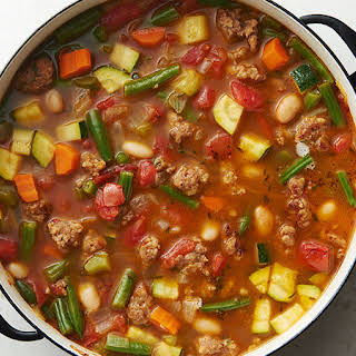 Spicy Italian Sausage and Vegetable Soup.