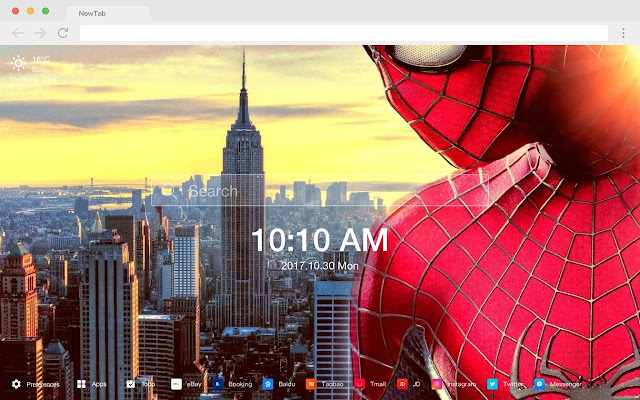 Spider man New Tab Page Pop Movie HD  Theme