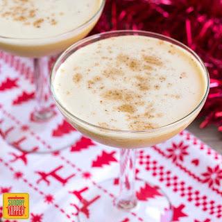 Bourbon Flip Cocktail.