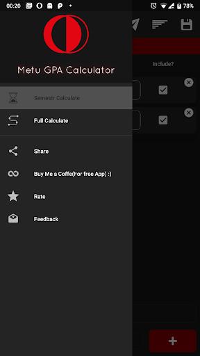 METU-ODTÜ GPA Calculator screenshot 2