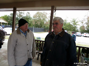 Photo: Bill Howe is talking and Gary Brothers is listening.    HALS Public Run Day 2014-1115 RPW