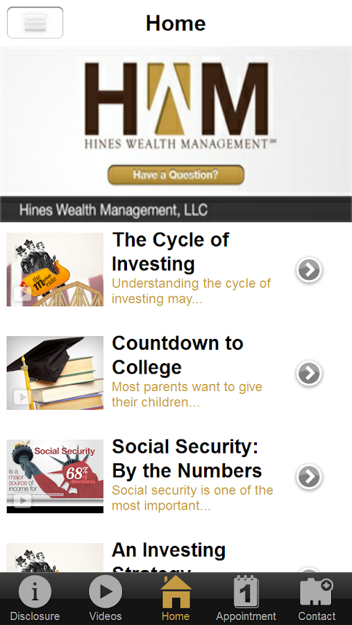 Hines Wealth Management- screenshot