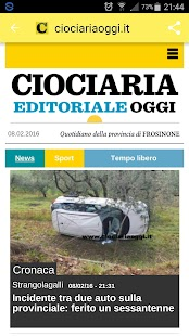 Ciociariaoggi.it- miniatura screenshot