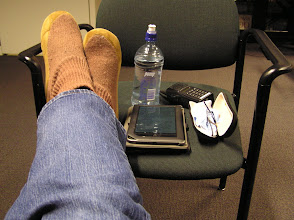 Photo: Feet up with slippers, Nook and glasses